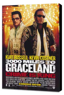 3000 Miles to Graceland - 27 x 40 Movie Poster - Style A - Museum Wrapped Canvas