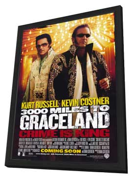3000 Miles to Graceland - 11 x 17 Movie Poster - Style A - in Deluxe Wood Frame