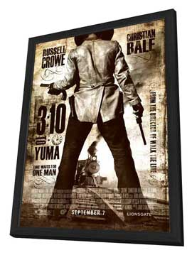 3:10 to Yuma - 27 x 40 Movie Poster - Style C - in Deluxe Wood Frame