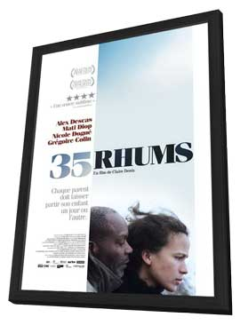 35 Shots of Rum - 27 x 40 Movie Poster - French Style A - in Deluxe Wood Frame