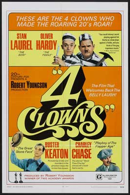 4 Clowns - 11 x 17 Movie Poster - Swiss Style A