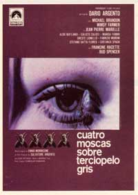 4 Flies on Grey Velvet - 27 x 40 Movie Poster - Spanish Style A