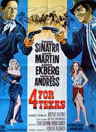 4 for Texas - 27 x 40 Movie Poster - Danish Style A