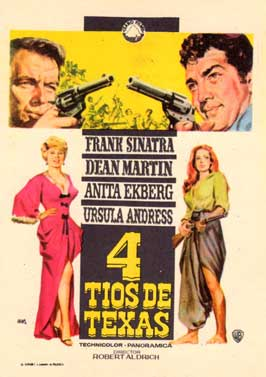 4 for Texas - 11 x 17 Movie Poster - Spanish Style B