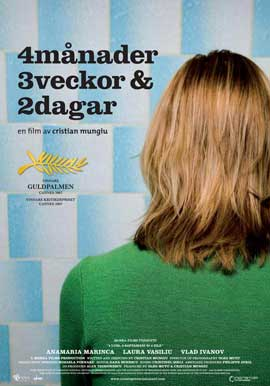 4 Months, 3 Weeks and 2 Days - 11 x 17 Movie Poster - Swedish Style A