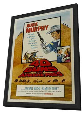 40 Guns to Apache Pass - 11 x 17 Movie Poster - Style A - in Deluxe Wood Frame