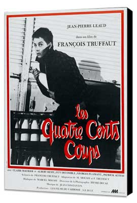The 400 Blows - 27 x 40 Movie Poster - French Style A - Museum Wrapped Canvas