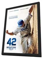 42 - 11 x 17 Movie Poster - Style A - in Deluxe Wood Frame