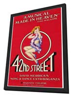 42nd Street (Broadway) - 27 x 40 Movie Poster - Style A - in Deluxe Wood Frame
