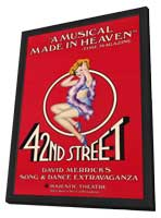 42nd Street (Broadway) - 11 x 17 Poster - Style A - in Deluxe Wood Frame