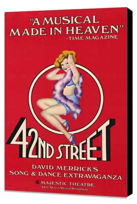 42nd Street (Broadway) - 11 x 17 Poster - Style A - Museum Wrapped Canvas