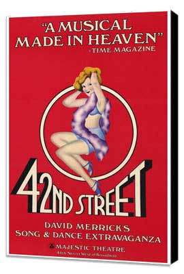 42nd Street (Broadway) - 27 x 40 Movie Poster - Style A - Museum Wrapped Canvas