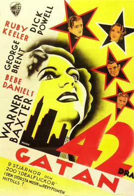 42nd Street - 11 x 17 Movie Poster - Swedish Style A
