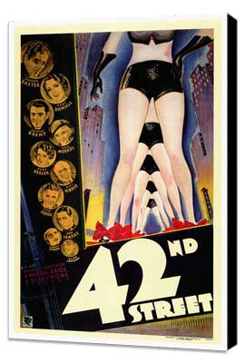 42nd Street - 27 x 40 Movie Poster - Style A - Museum Wrapped Canvas