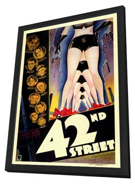 42nd Street - 11 x 17 Movie Poster - Style A - in Deluxe Wood Frame