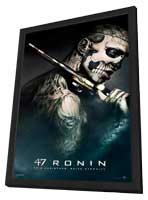 47 Ronin - 27 x 40 Movie Poster - Style D - in Deluxe Wood Frame