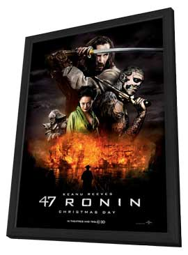 47 Ronin - 27 x 40 Movie Poster - Style A - in Deluxe Wood Frame