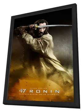 47 Ronin - 27 x 40 Movie Poster - Style B - in Deluxe Wood Frame