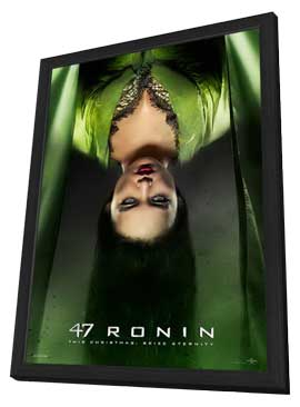 47 Ronin - 27 x 40 Movie Poster - Style E - in Deluxe Wood Frame