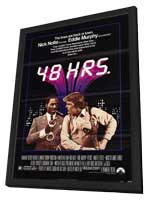 48 Hrs. - 11 x 17 Movie Poster - Style A - in Deluxe Wood Frame