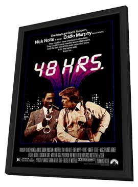 48 Hrs. - 27 x 40 Movie Poster - Style A - in Deluxe Wood Frame