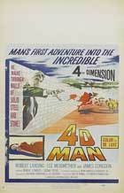 The 4D Man - 11 x 17 Movie Poster - Style D