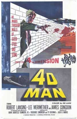 The 4D Man - 11 x 17 Movie Poster - Style A