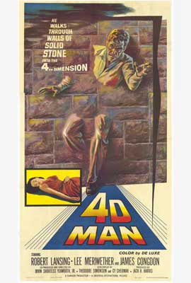 The 4D Man - 27 x 40 Movie Poster - Style B