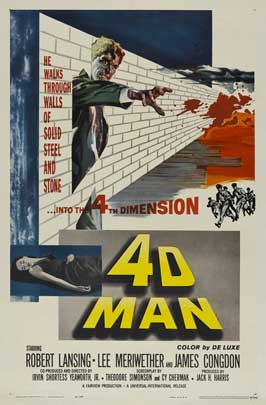 The 4D Man - 11 x 17 Movie Poster - Style C
