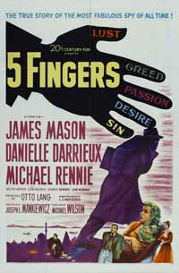 5 Fingers - 27 x 40 Movie Poster - Style A