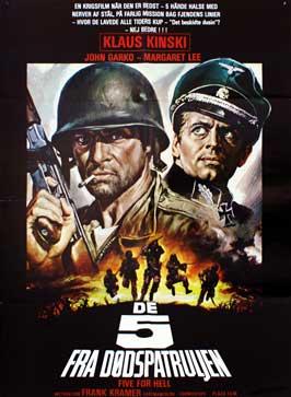 5 per l'inferno - 27 x 40 Movie Poster - Danish Style A