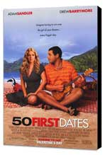 50 First Dates - 11 x 17 Movie Poster - Style A - Museum Wrapped Canvas