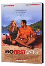 50 First Dates - 27 x 40 Movie Poster - Style A - Museum Wrapped Canvas