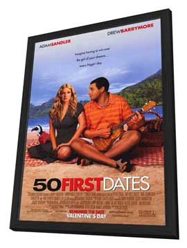 50 First Dates - 27 x 40 Movie Poster - Style A - in Deluxe Wood Frame