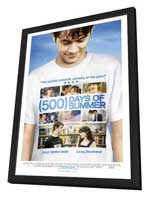 500 Days of Summer - 27 x 40 Movie Poster - Finnish Style A - in Deluxe Wood Frame