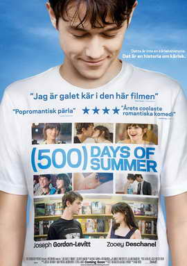 500 Days of Summer - 27 x 40 Movie Poster - Swedish Style A