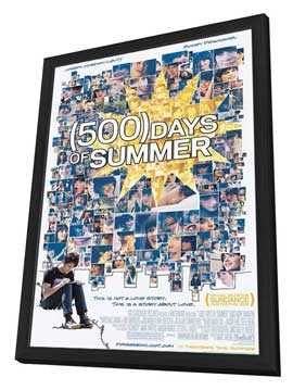 500 Days of Summer - 27 x 40 Movie Poster - Style A - in Deluxe Wood Frame