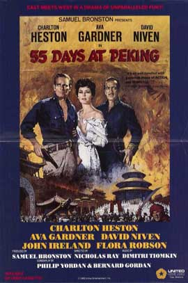 55 Days at Peking - 11 x 17 Movie Poster - Style B