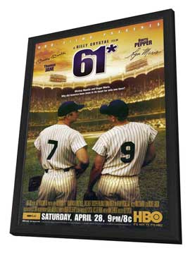 61* - 11 x 17 Movie Poster - Style B - in Deluxe Wood Frame