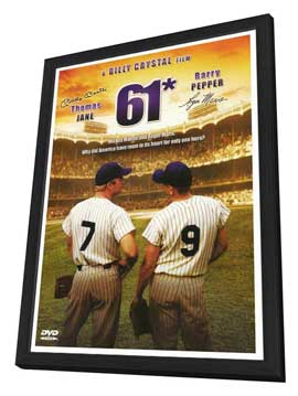 61* - 27 x 40 Movie Poster - Style A - in Deluxe Wood Frame