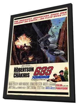 633 Squadron - 11 x 17 Movie Poster - Style A - in Deluxe Wood Frame
