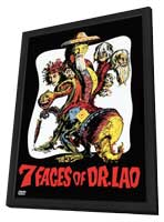 7 Faces of Dr. Lao - 11 x 17 Movie Poster - Style B - in Deluxe Wood Frame