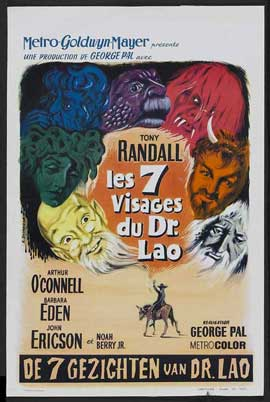 7 Faces of Dr. Lao - 11 x 17 Movie Poster - Belgian Style A