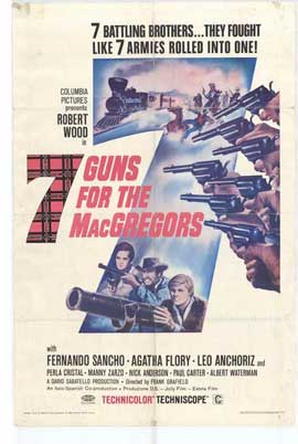7 Guns for the MacGregors - 11 x 17 Movie Poster - Style A
