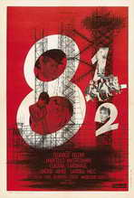 8 1/2 - 27 x 40 Movie Poster - French Style A