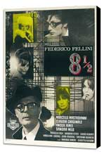 8 1/2 - 27 x 40 Movie Poster - Italian Style I - Museum Wrapped Canvas