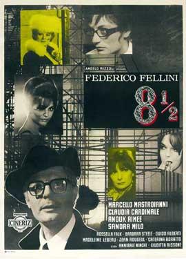 8 1/2 - 11 x 17 Movie Poster - Italian Style B