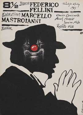 8 1/2 - 27 x 40 Movie Poster - Polish Style A