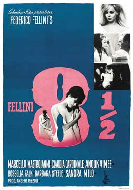 8 1/2 - 27 x 40 Movie Poster - Swedish Style A