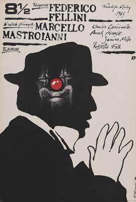 8 1/2 - 27 x 40 Movie Poster - Polish Style E